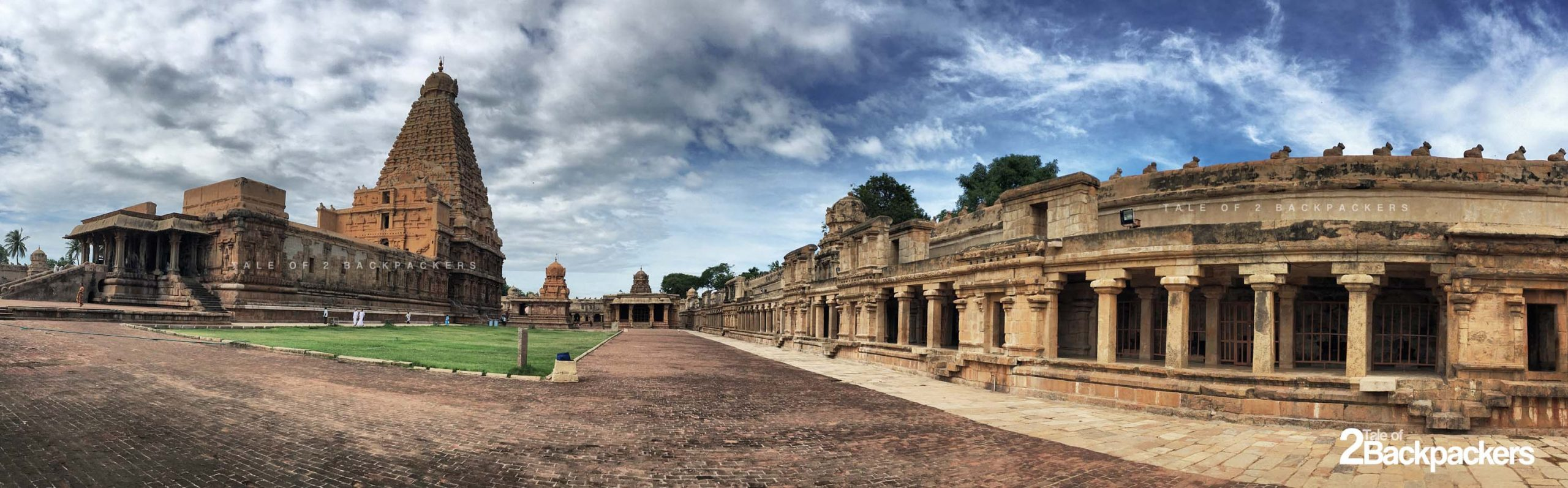 Panoramic view of the Thanjavur Big Temple