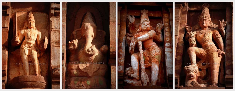 Sculptures on Thanjavur Big Temple