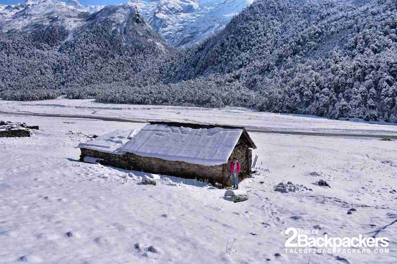 snow covered hut - Sikkim tourism