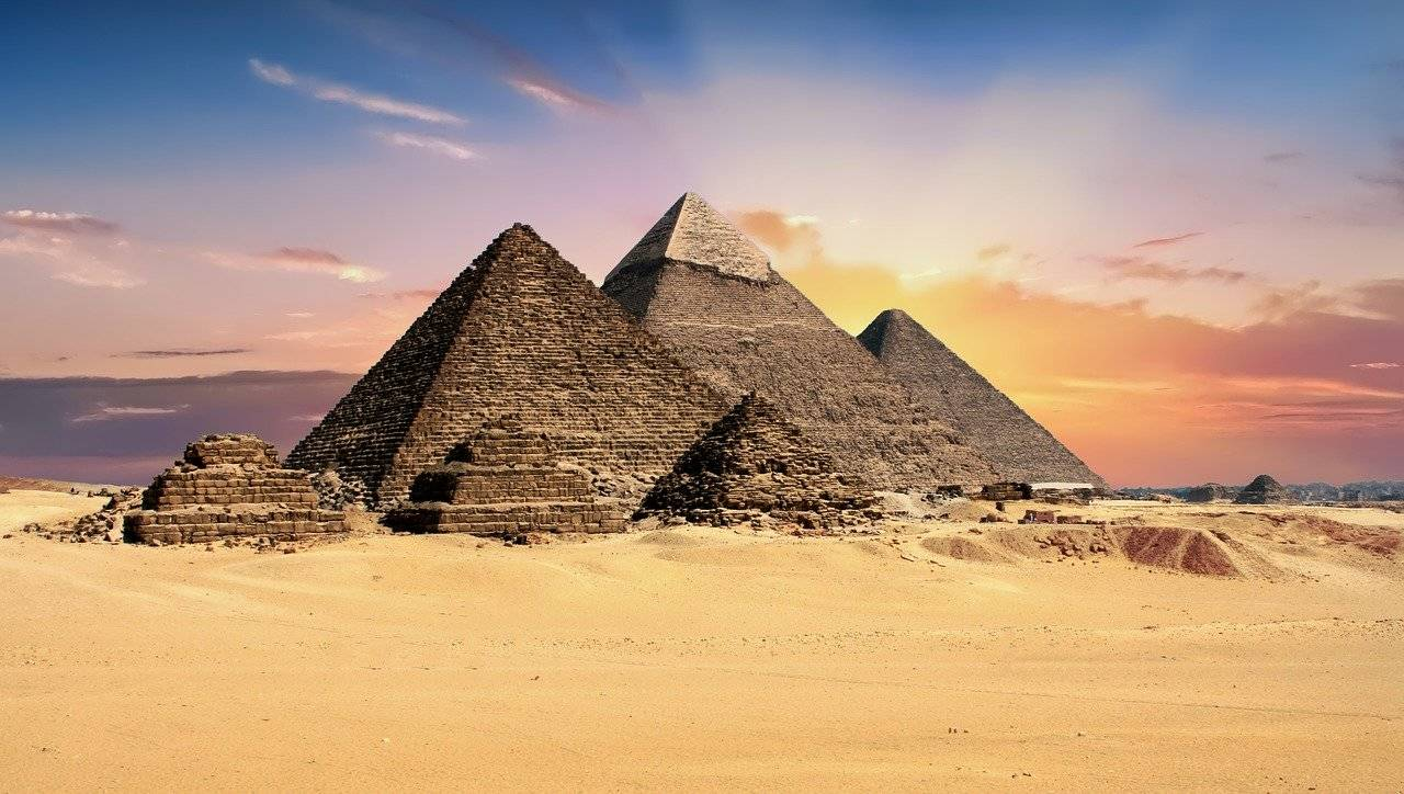 Sunset at Pyramids - adventure bucket list