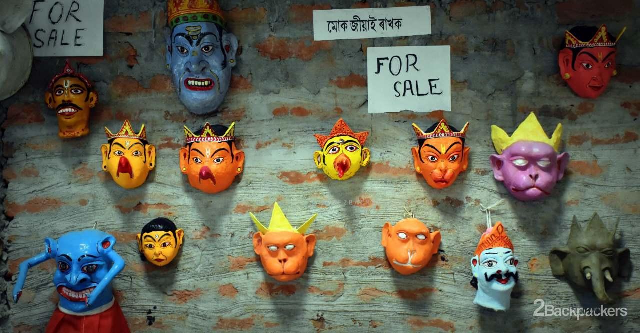 Masks for sale, Majuli