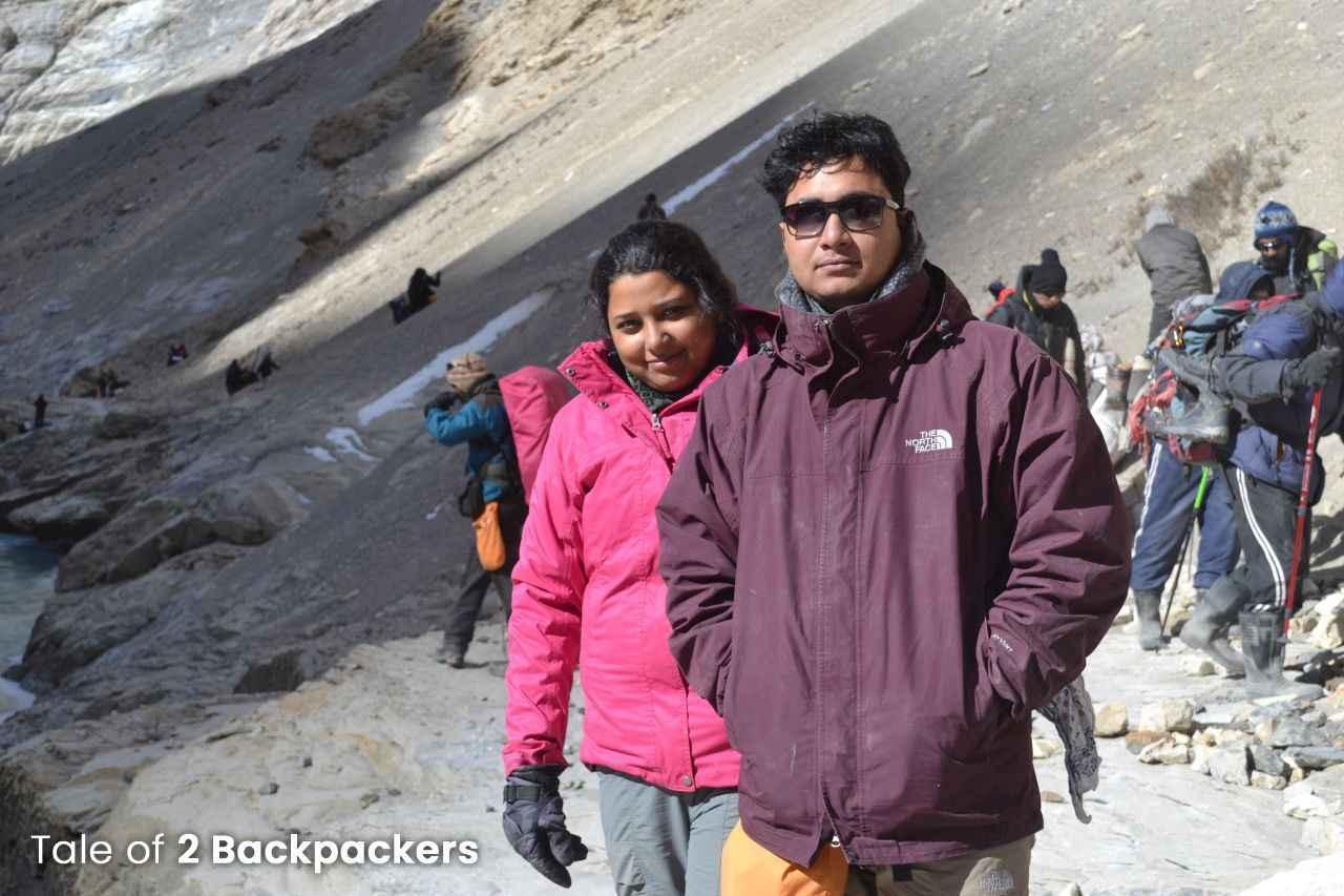 2 Backpackers at Chadar Trek