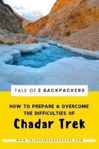 Chadar Trek Tips and Guide - pinterest