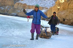 Guides and porters at Chadar Frozen River Trek