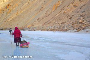 Walking on the Chadar Trek - Chadar Trek Guide