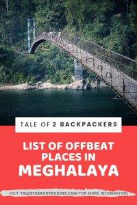 Lesser known places in Meghalaya