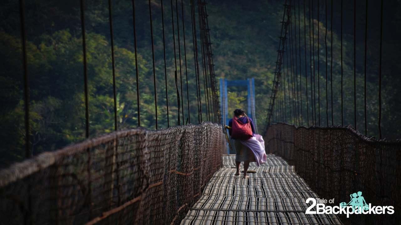 Hanging bridge Shnongpdeng Meghalaya