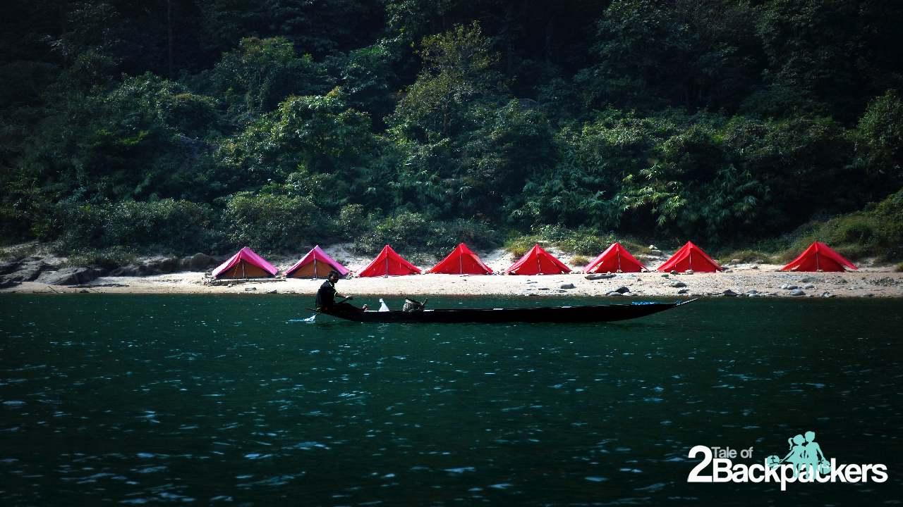 Camping at Shnongpdeng Meghalaya