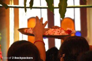 Ashtami Anjali during Durga Puja