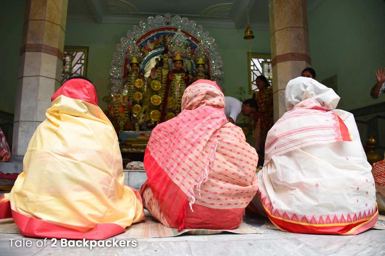 Dhuno Porano ritual at Bholanath Dham in North Kolkata