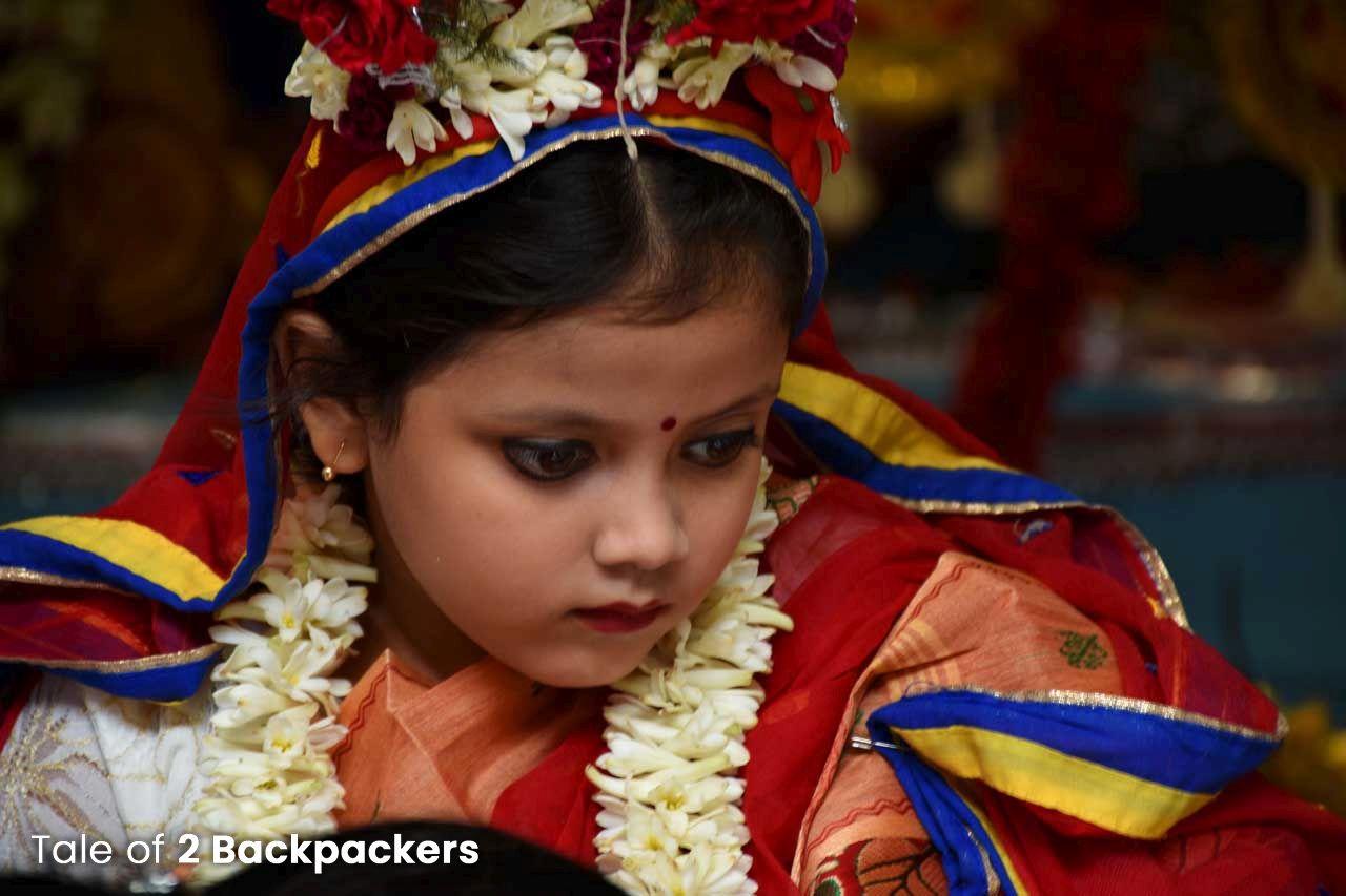 Little Girl Dressed as Kumari