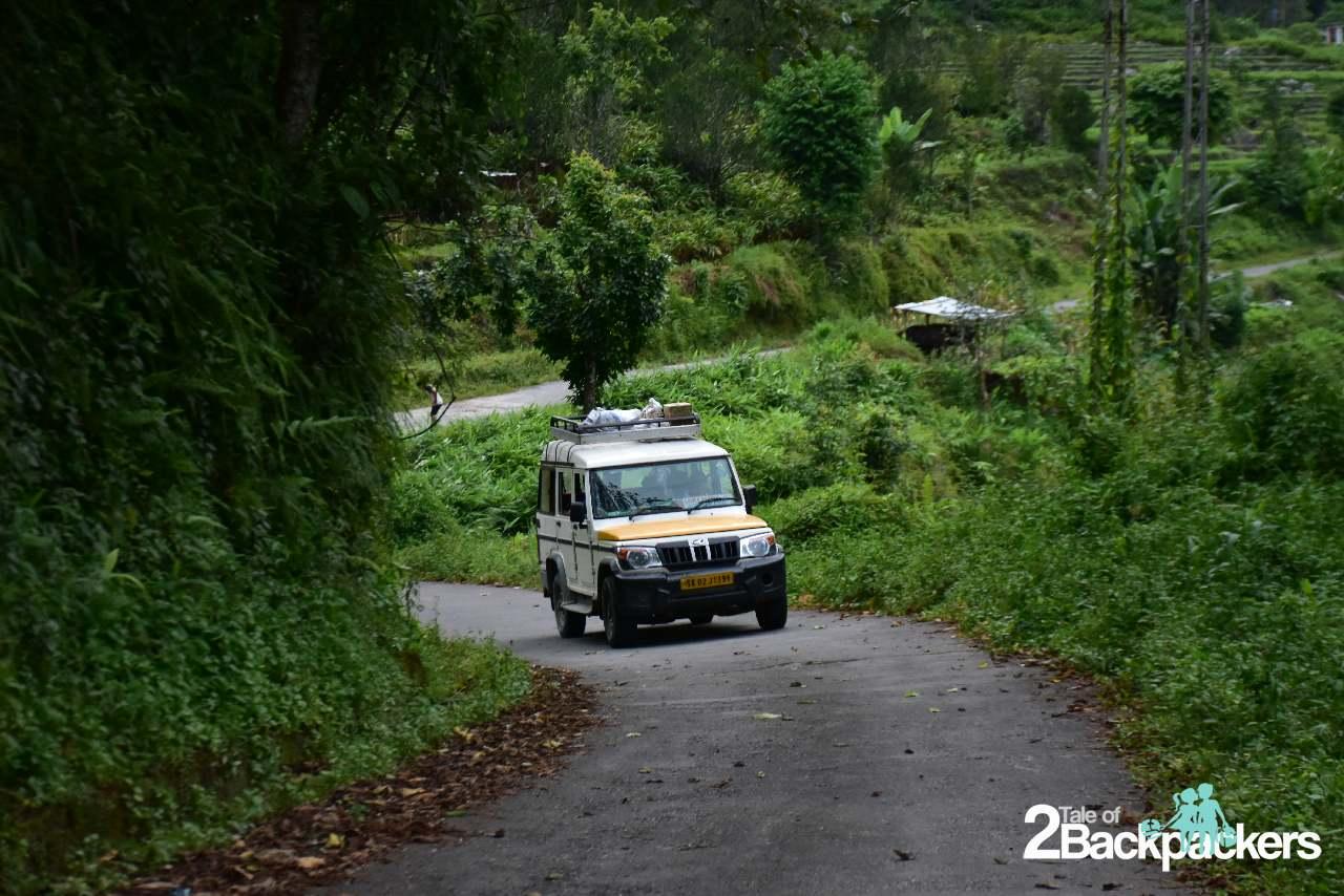Local sumo (vehicles) in Sikkim