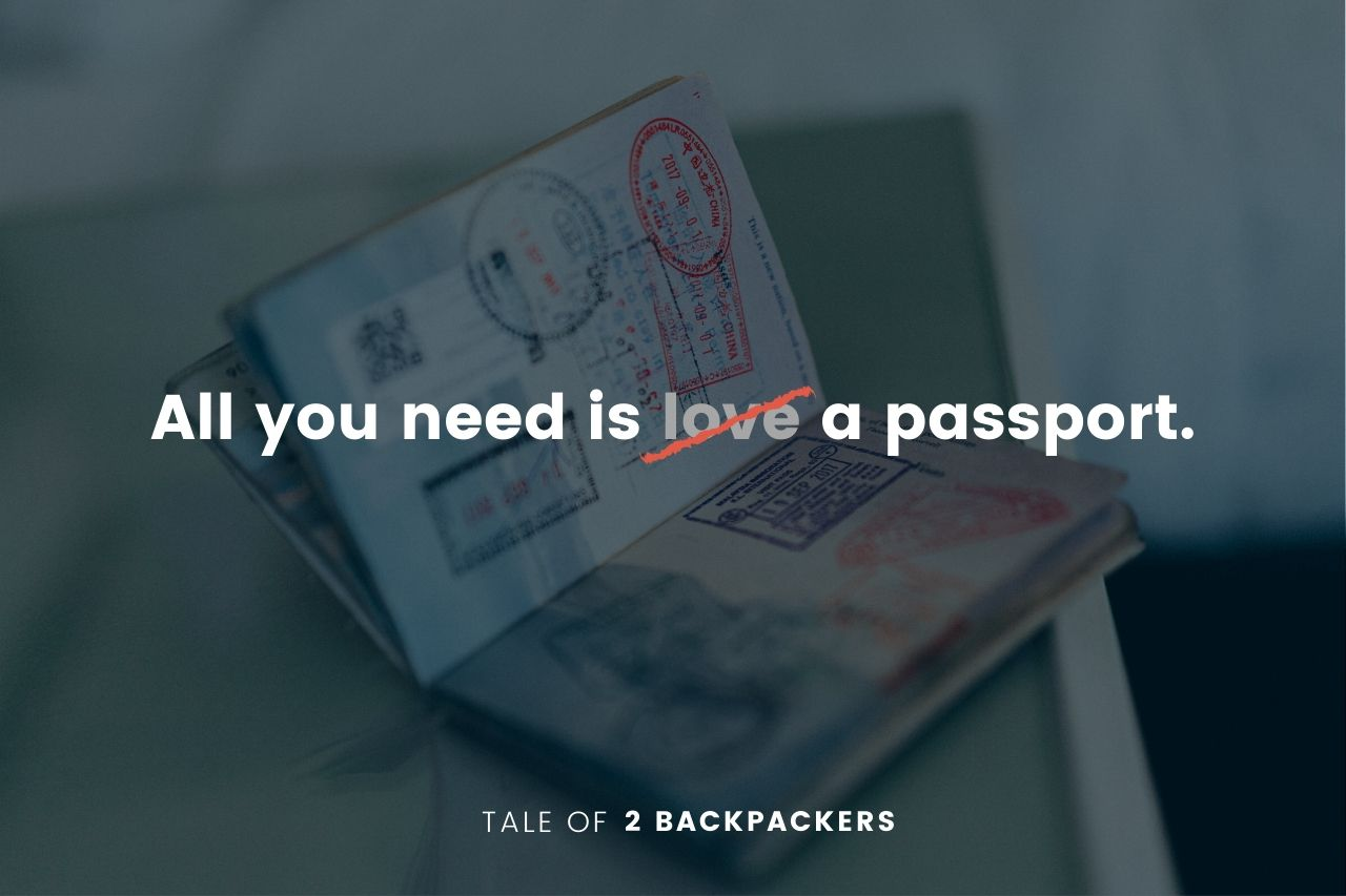Funny travel quotes -All you need is a passport