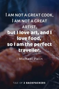 Funny travel quotes by Michael Palin