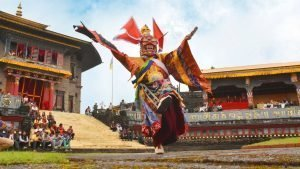 Pang Lhabsol in Rabong Monastery Sikkim - festivals of Northeast India