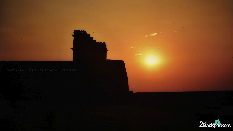 Sunset at Chanderi Fort, Chanderi, Madhya Pradesh Tourism