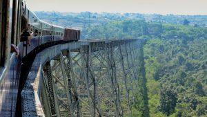 Hsipaw train ride crossing Gokteik Viaduct Myanmar