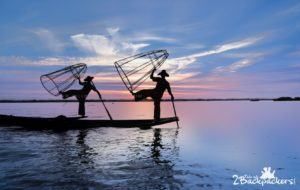 The balancing Intha fishermen at Inle Lake - Myanmar Budget Itinerary