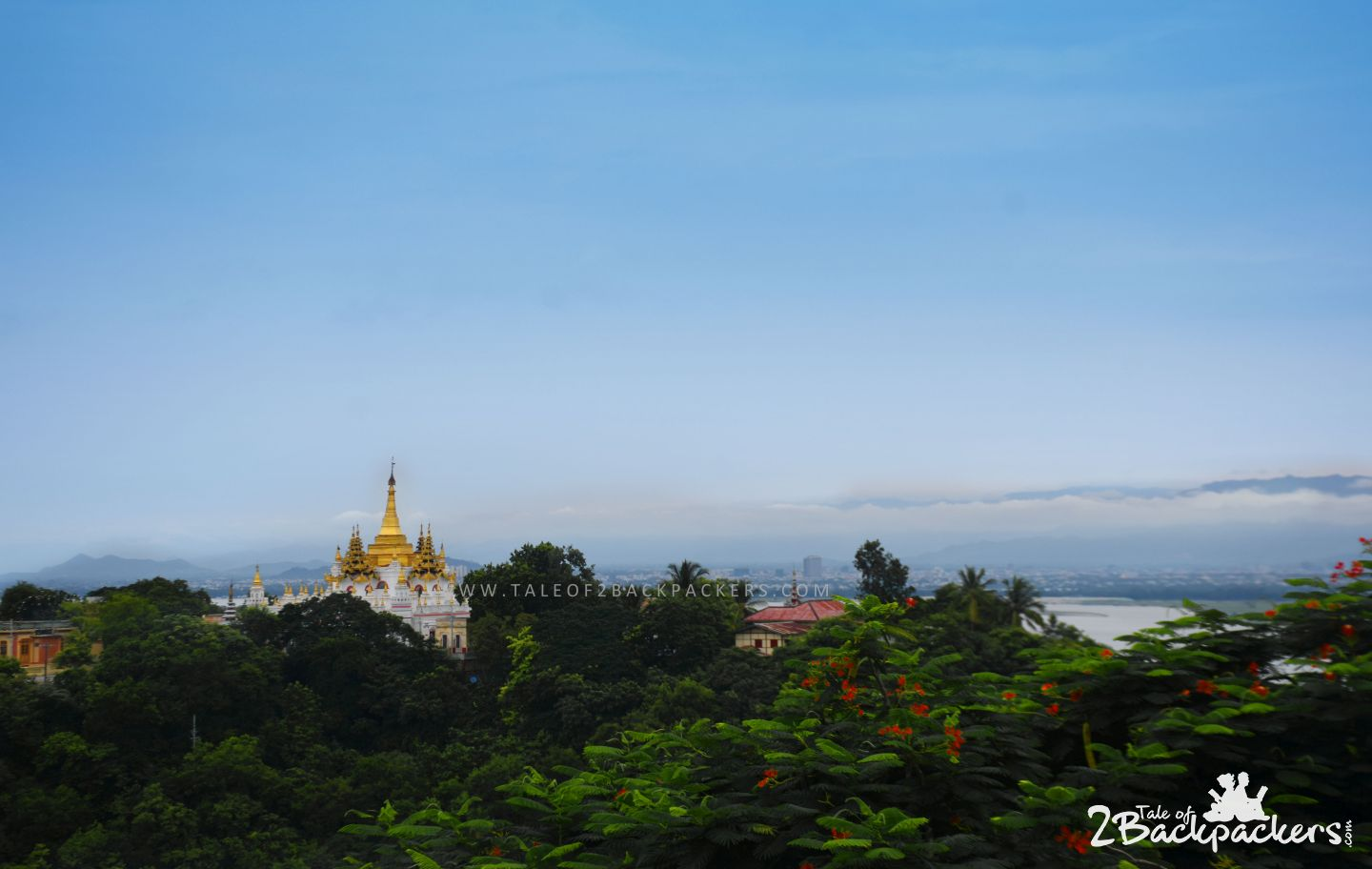 View of Mandalay River while backpacking Myanmar