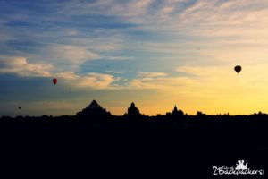 Viewing Sunrise from hot air balloon at Bagan was a major part of our Myanmar Itinerary