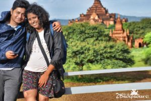Bagan travel blog - wearing normal clothes while travel