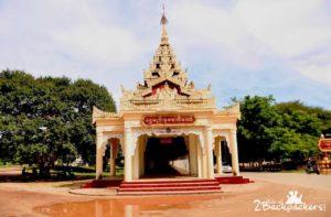 Frescoes at temples of Bagan Myanmar