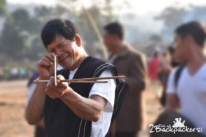 Geppe Abnam, traditional archery at Basar