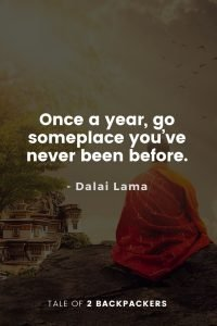 Dalai Lama Quotes on Travel