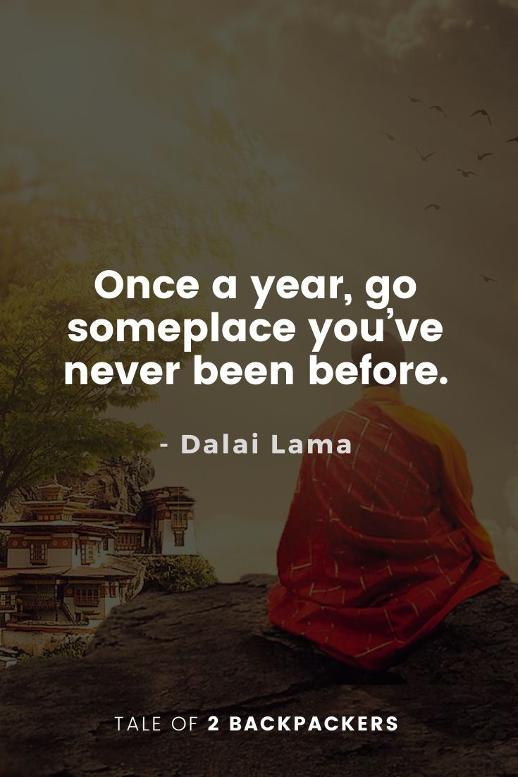 Dalai Lama Quotes on Travel