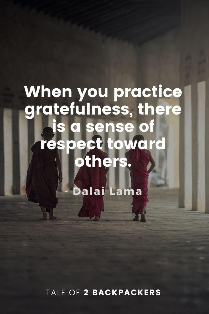 Dalai Lama Quotes on Gratefulness