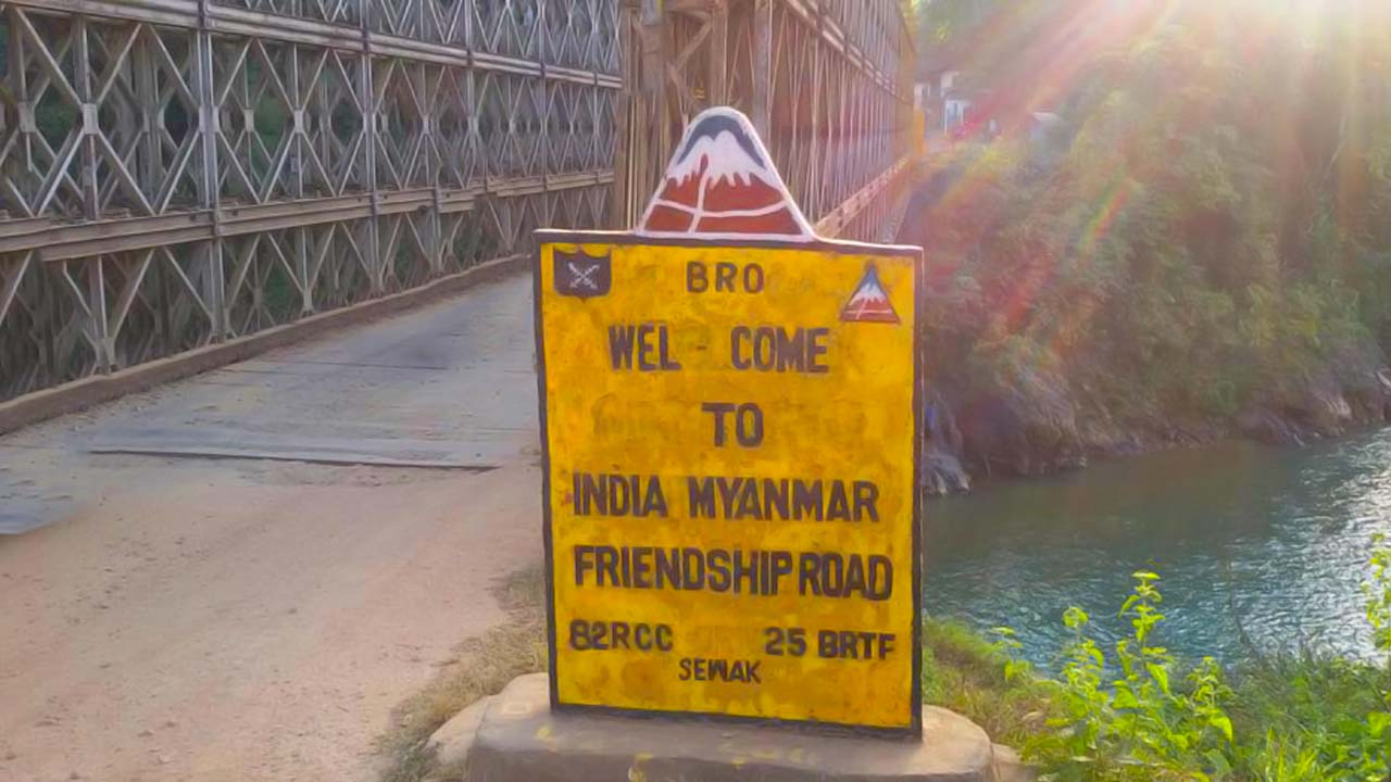 India Myanmar Friendship Bridge - India to Myanmar by road