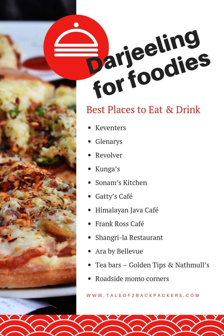 Best places to eat in Darjeeling