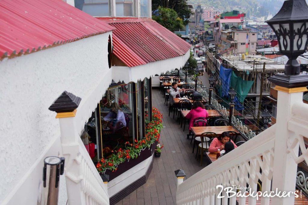 Beautiful terrace of Glenarys Restaurant, Darjeeling