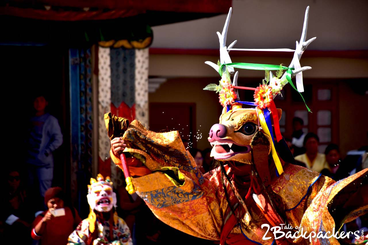 masked dance of India - Sikkim - incredible India