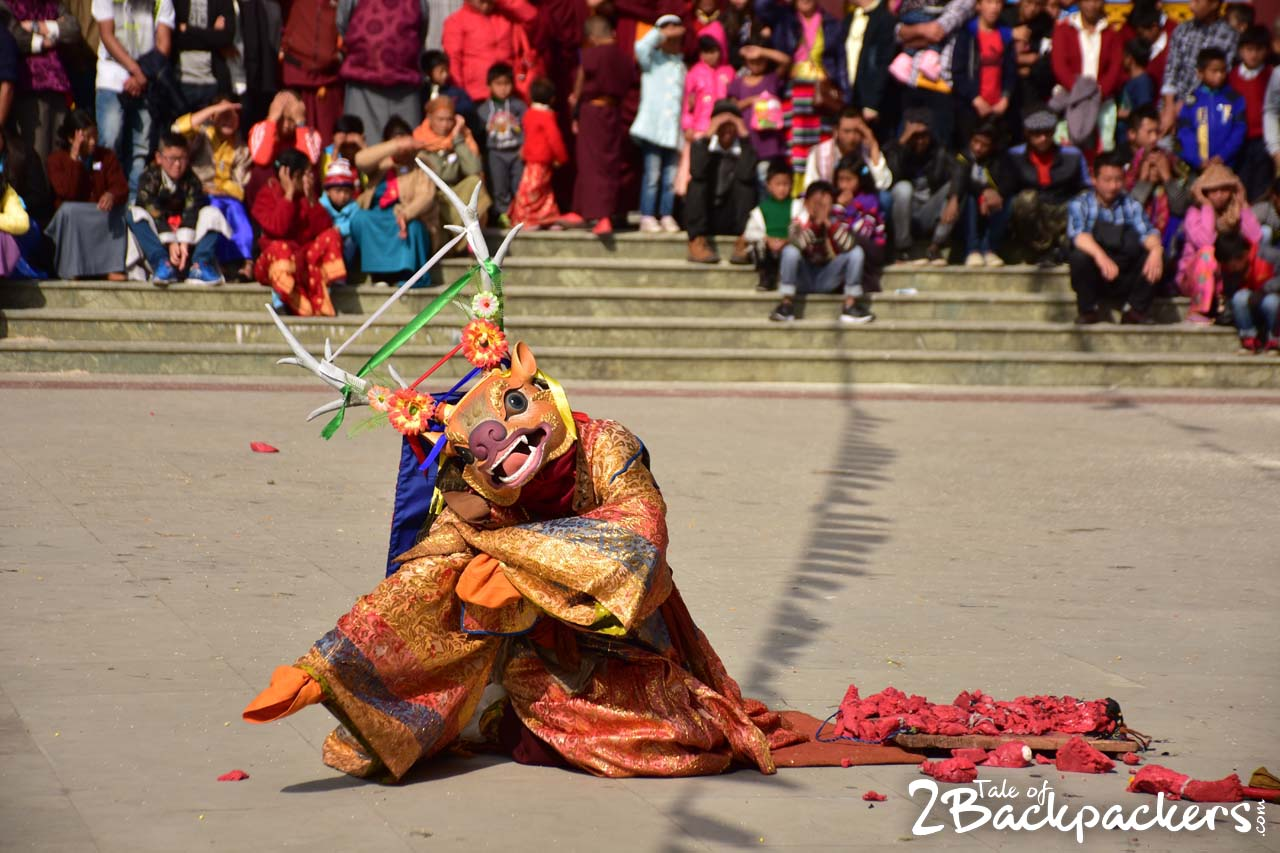 masked dance of india