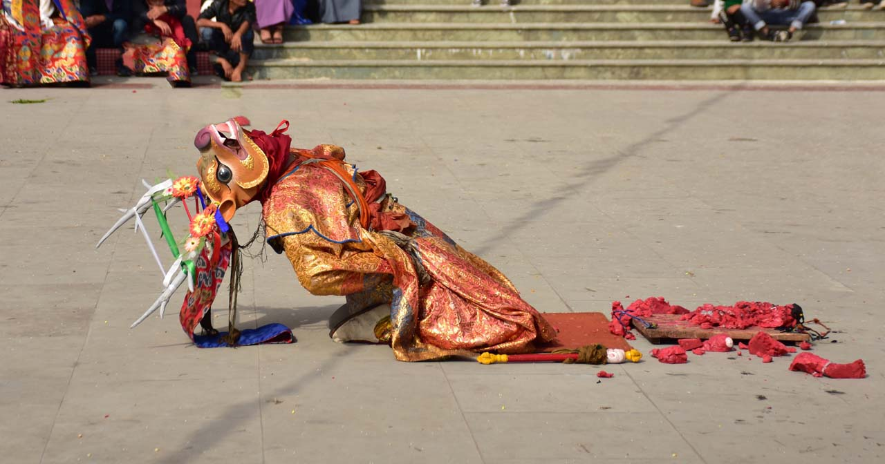 Masked dance of India - incredible India