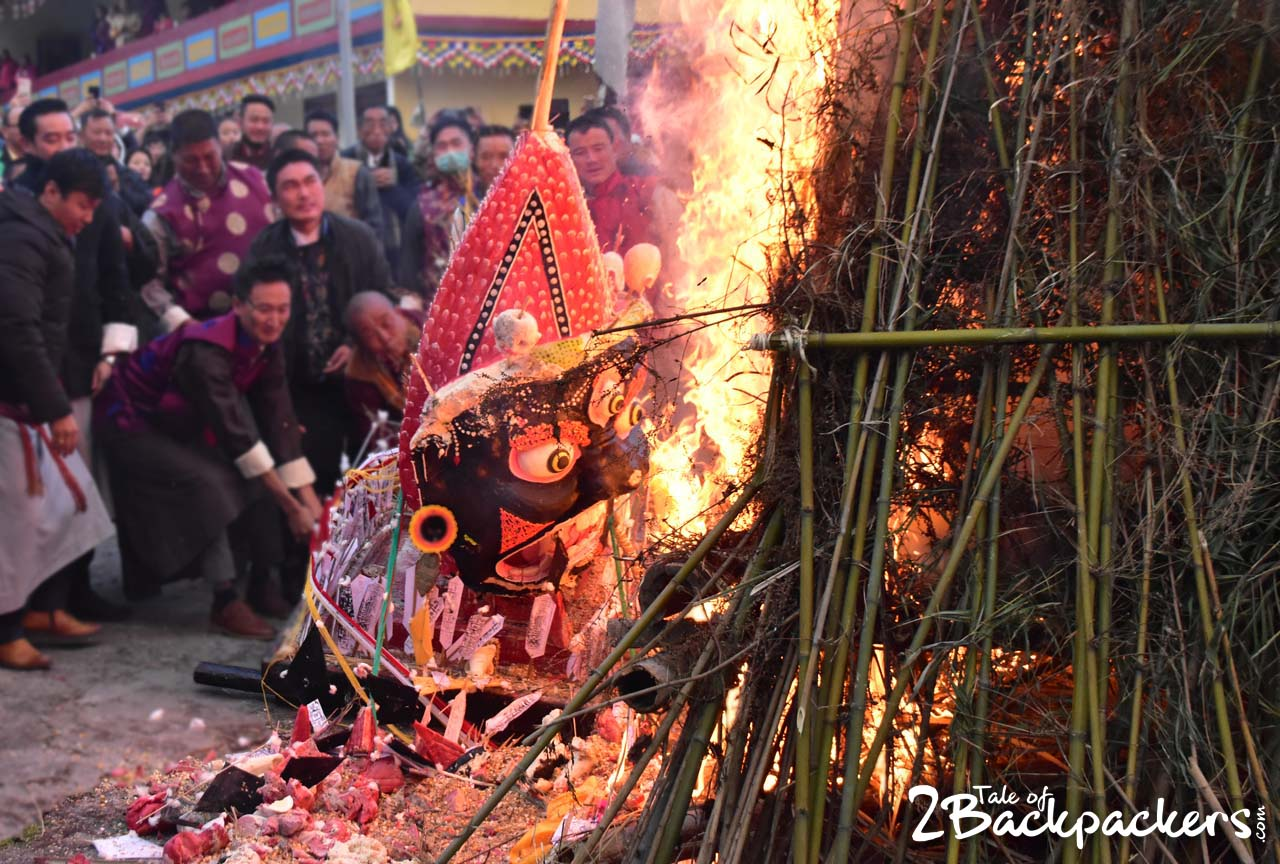burning of effigy - Kagyed Dance