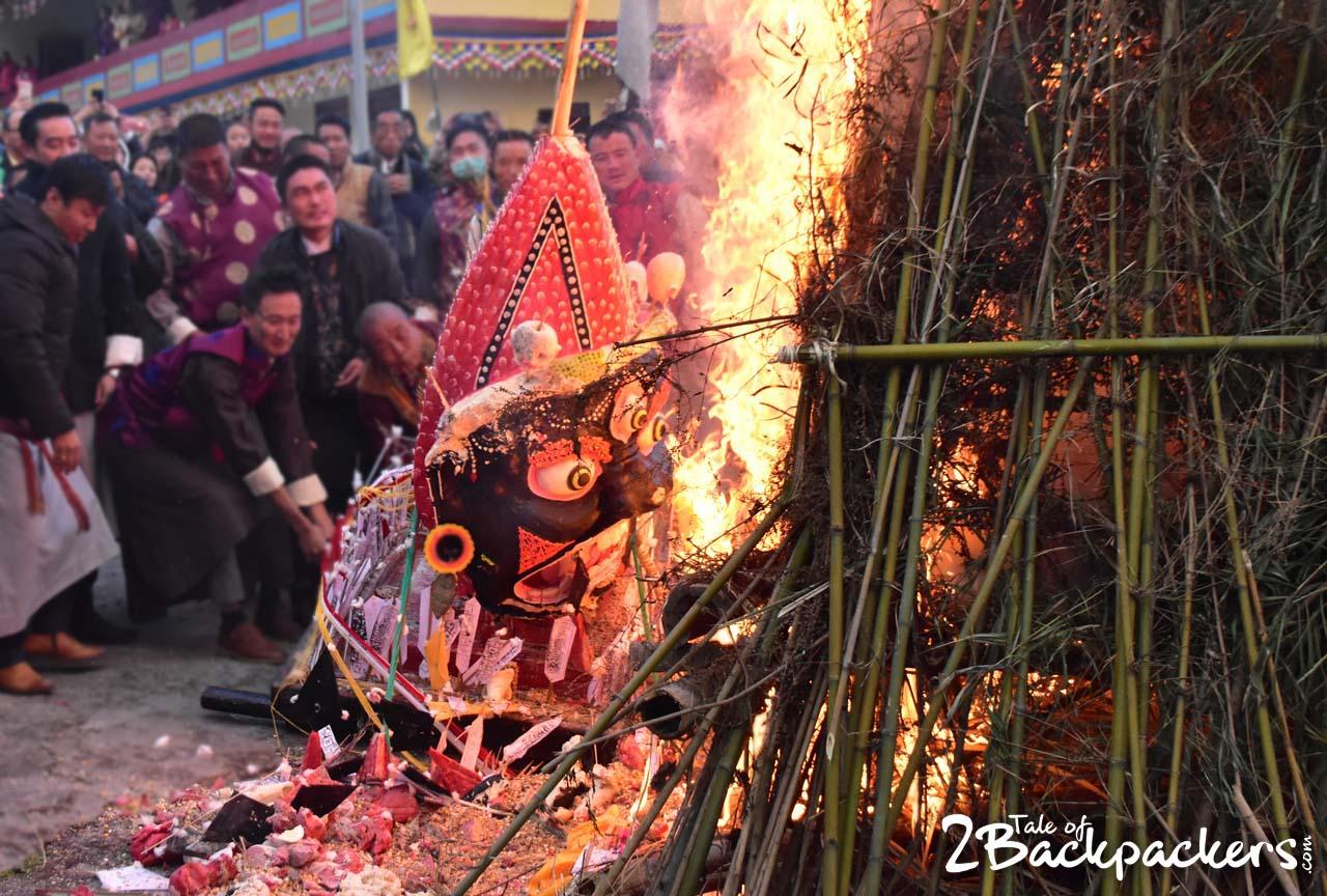burning of effigy - Kagyed Dance