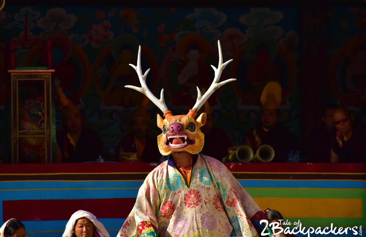 Masked dance of India