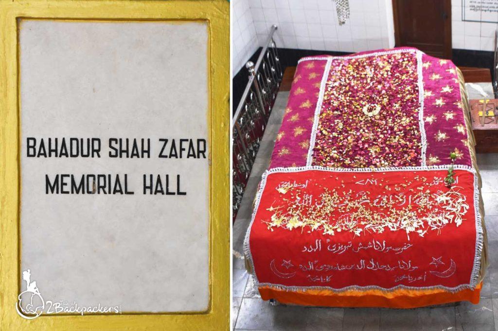 The tomb of Bahadur Shah Zafar, the last emperor of India