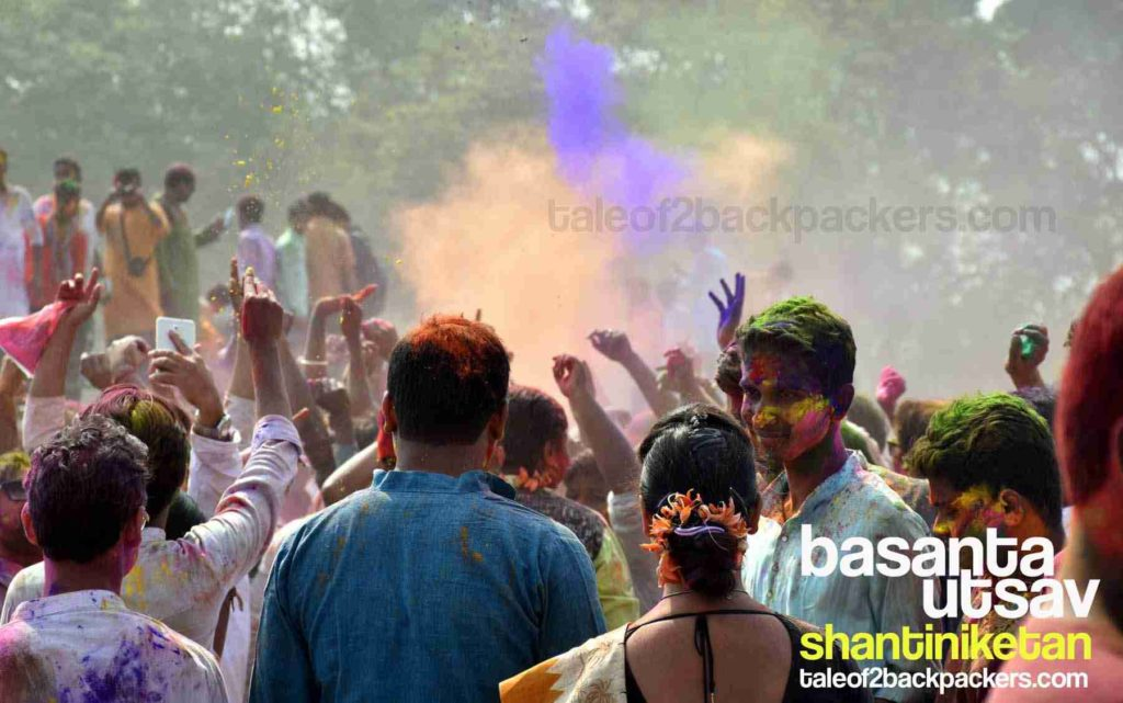 Holi in India is a colourful affair. People playing Holi