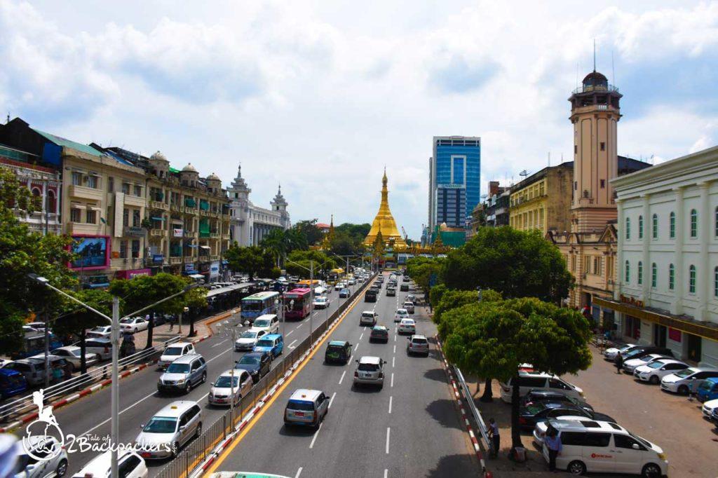 View of Sule Pagoda at Yangon Downtown _ Yangon Travel Guide
