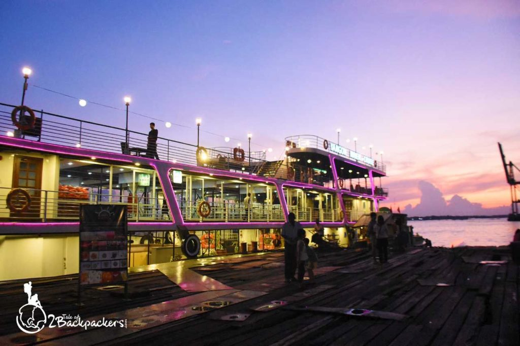 Yangon cruise ride during the sunset is one of the best things to do at Yangon, Myanmar