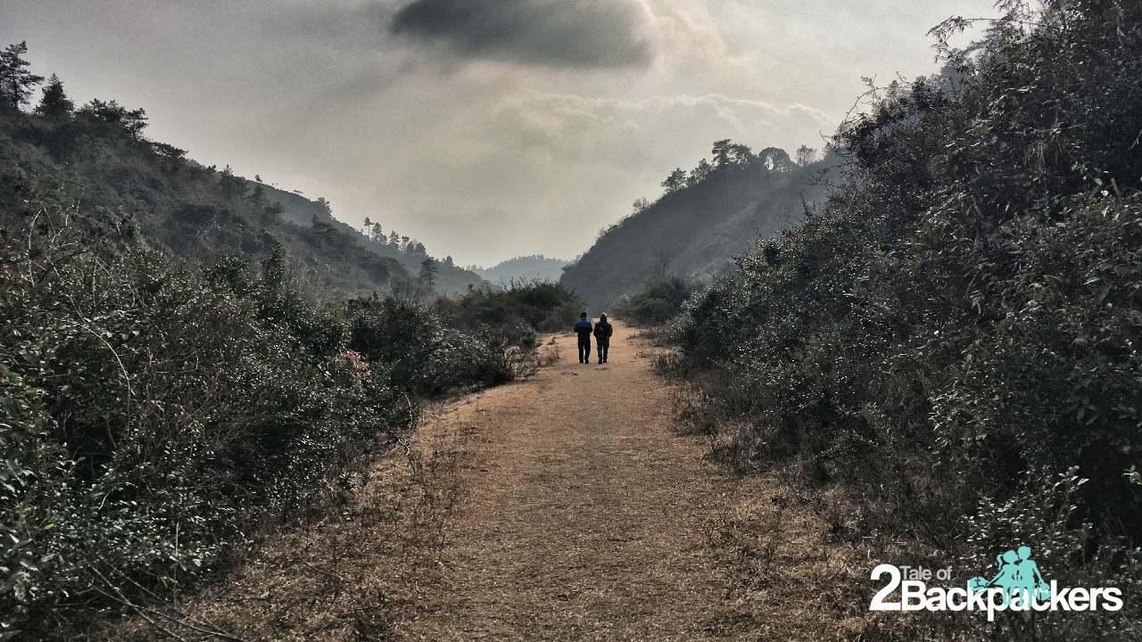 Walking through the David Scott Trail towards Cherrapunji