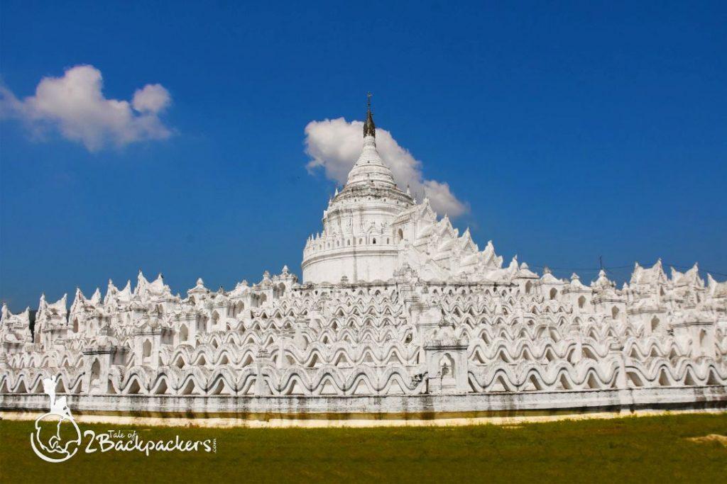 Hsinbyume Pagodaat Mingun, Mandalay, Myanmar