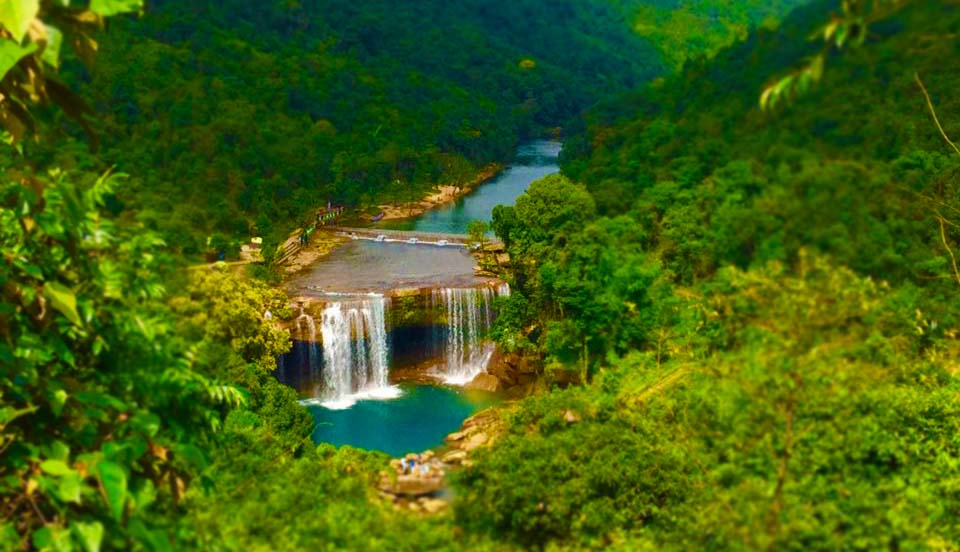 Krang Suri Falls on the way towards Shillong in the MEghala Bike trip