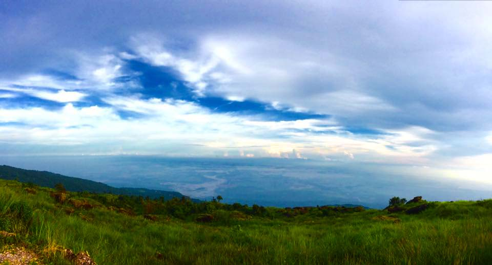View from Mawlynnong - Bangladesh is just there!