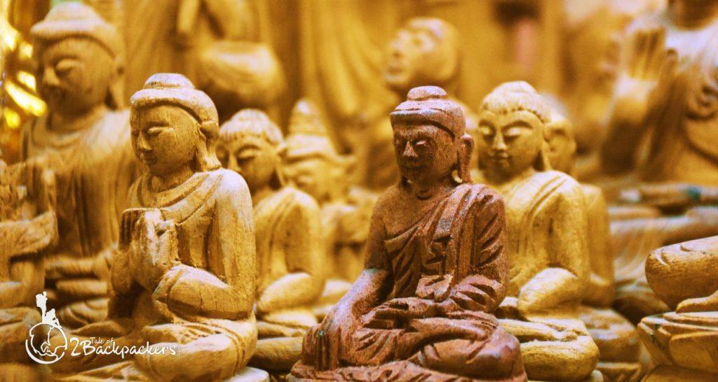 Statues of Buddha at Mandalay Market