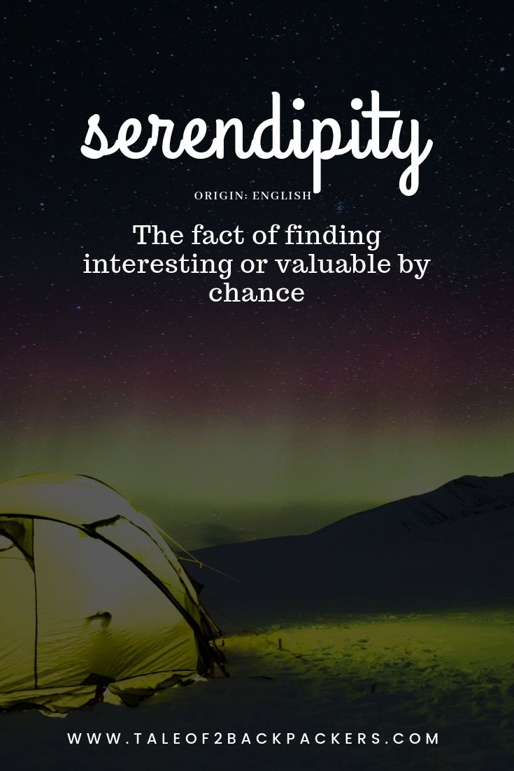 travel words with beautiful meaning-serendipity