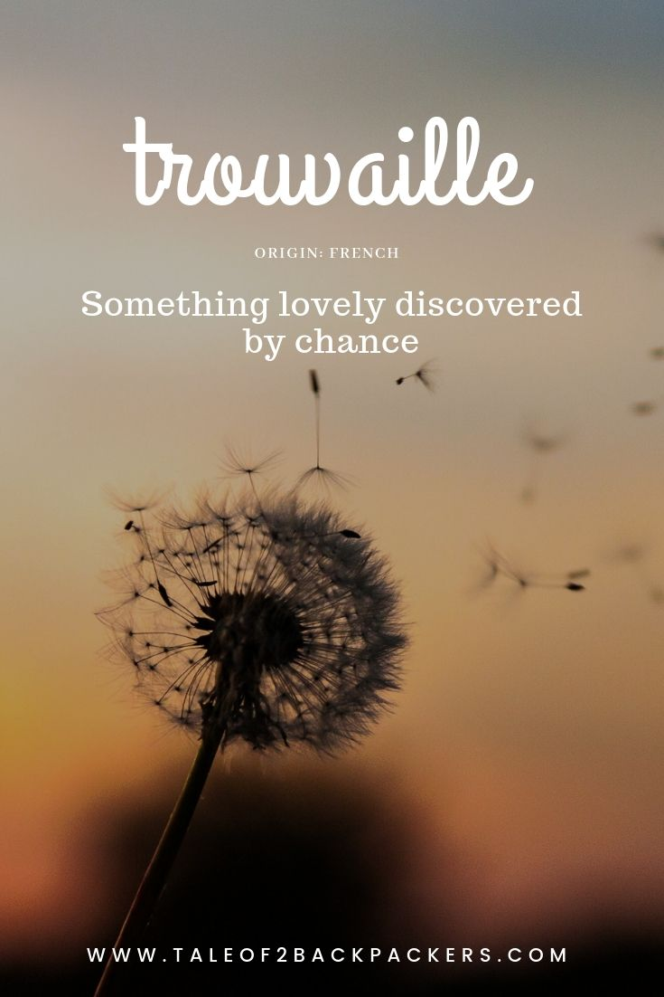 travel word with beautiful meaning - trouvaille - blog name ideas